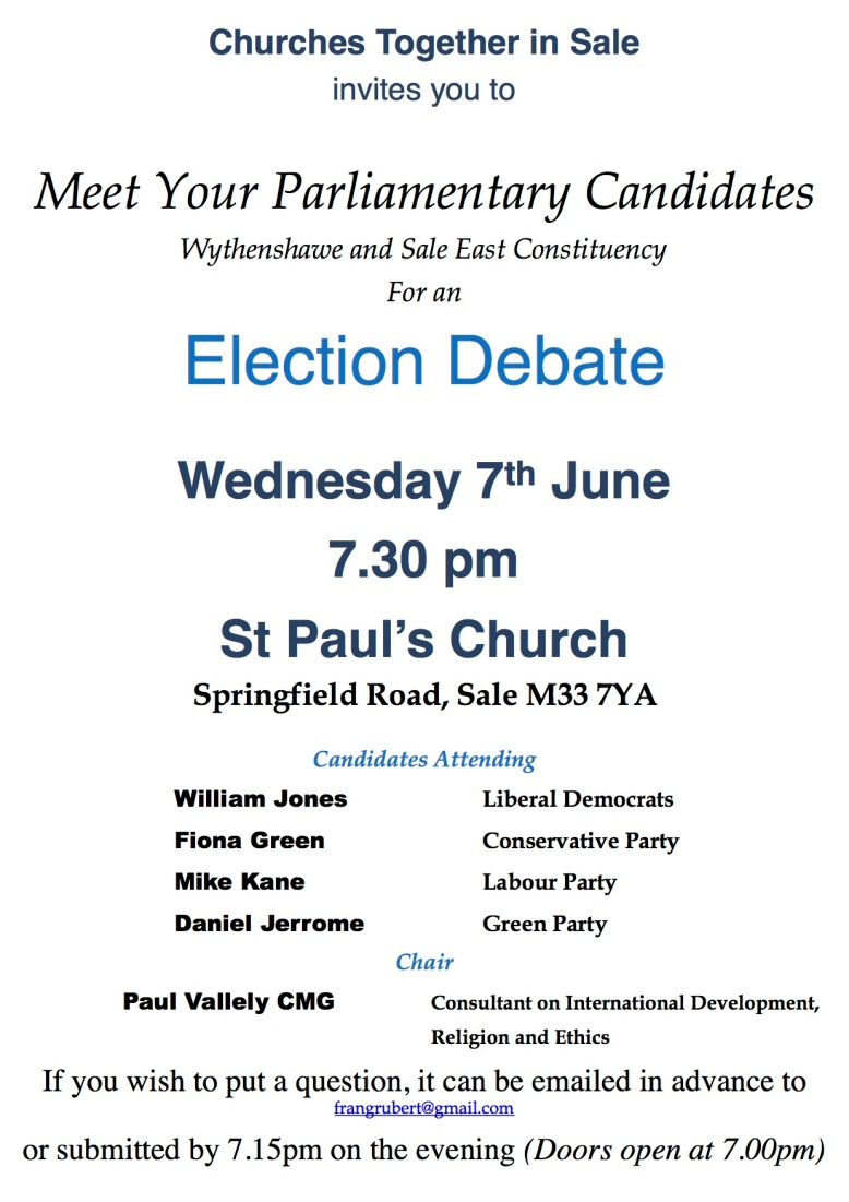 Election Debate poster Colour May 2017